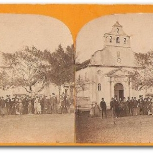 Vintage Stereoscopic View of Catholic Church St. Augustine FL